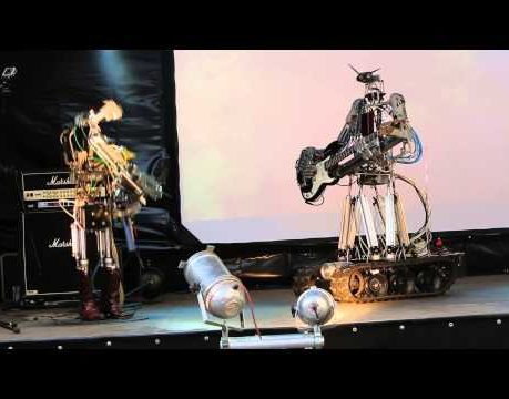 - httpsi - Compressorhead – T.N.T. (AC/DC Cover) (live in Moscow, Russia)
