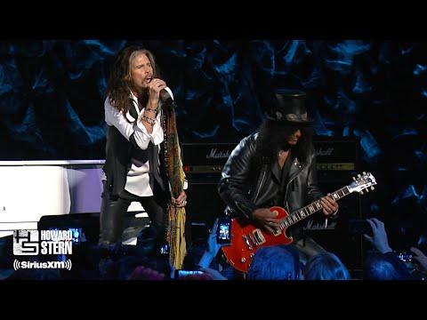 """- httpsi - Steven Tyler, Slash, and Train """"Dream On"""" at the Howard Stern Birthday Bash (2014)"""